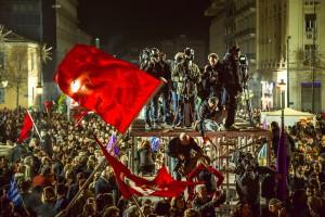 جشن پیروزی سیریزا در آتن